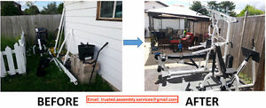 home gym, treadmill, and elliptical assembly / dismantling