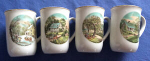 Currier and Ives Mugs