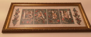 BRAND NEW Vintage Angel Floral BATH Picture for a bathroom