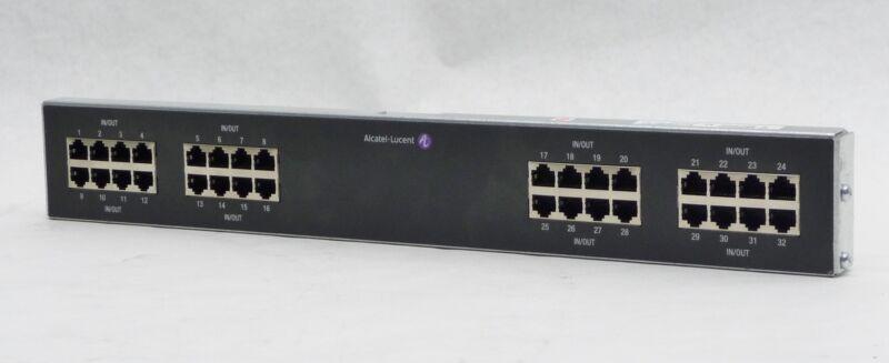 Alcatel Lucent 7705 Sar 32 Port Breakout Panel T1/ei 100/120 Ohm Rj45 3he03394aa