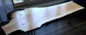 RARE HONEY LOCUST LIVE EDGE COFFEE TABLE