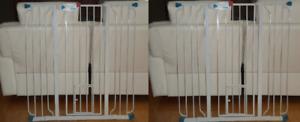 2 Barrières d'escalier en metal avec porte