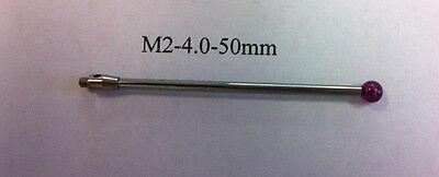 M2 Cmm Stylus Styli  4.0mm Ruby Ball 50mm Length A-5003-0045