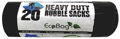 20 H/D INDUSTRIAL RUBBLE SACKS BLACK-30L, BAG TYPE RUBBLE SACKS, EXTE FOR ECOBAG