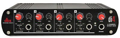 dbx DI4 Active 4 Channel Direct Box with Line Mixer
