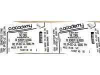 The Coral Glasgow 09/12/2016 2 tickets - cheap