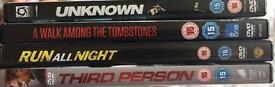 4 Liam Neeson movies (DVD's)