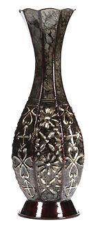 "Hosley's Metal Tall Floor Vase - 14"" High"