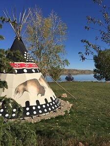 Lakeside Teepees For Rent at Little Bow