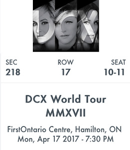 Dixie Chicks Tickets April 17th