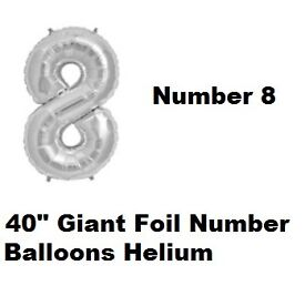 """40"""" Giant Foil Number 5 Helium Balloon Party"""
