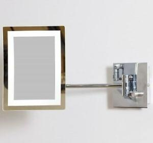 """NEW IMG LED MAGNIFYING MIRROR W/ LIGHT DIMMER  3X XOOM - 8.5x6.25"""" - AMERICAN IMAGINATIONS 103377731"""