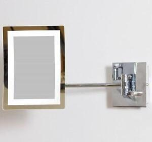 "NEW IMG LED MAGNIFYING MIRROR W/ LIGHT DIMMER  3X XOOM - 8.5x6.25"" - AMERICAN IMAGINATIONS 103377731"