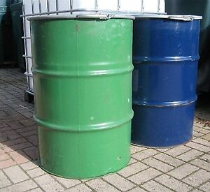 CLEAN, STEEL DRUMS WITH LIDS (60gallon/200L)