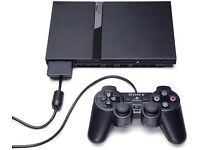SONY PS2 SLIM PLAYSTATION 2 CONSOLE BLACK