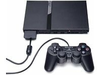 SONY PS2 SLIM PLAYSTATION 2 CONSOLE BLACK