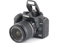 Canon 1000D + 18-55mm IS + others