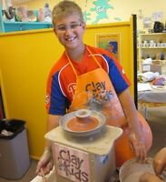 Kid's birthday parties at Clay for Kids Pottery Studio