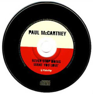 Paul McCartney-Never Stop Doing What You Love promo cd