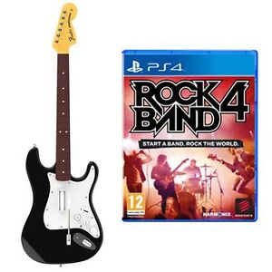 Rock Band 4 PS4 Game and Guitar Bundle