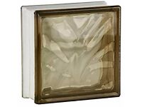 Brown Glass Blocks - full (19x19) and 8 half (19x9) size, wave design