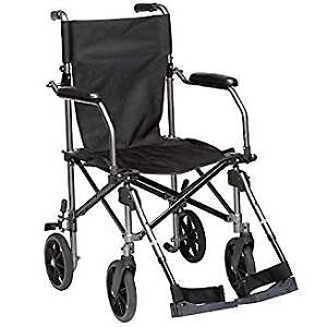 Drive Medical Travelite Transport Wheelchair Chair in A Bag, Bla