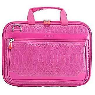 Women's Embossed Crocodile 10.1 Inch Laptop Netbook Tablet Bag