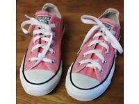 Pink CONVERSE trainers size 4 EU 36.5 23cms hardly worn very good condition