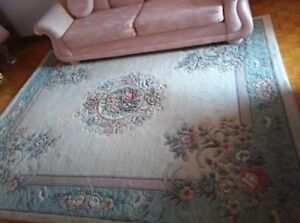 Chinese Oriental Rug Carpet pastels 8x10 hand knotted wool
