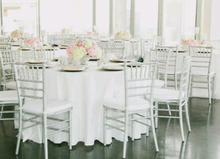 White Tiffany Chairs hire 5$