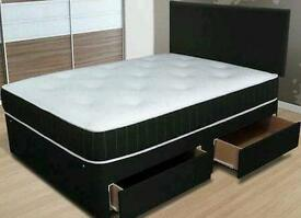 Duble bed+ mattress+ headboard