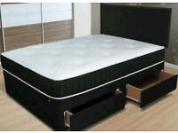 Duble bed+ mattress+ headboard