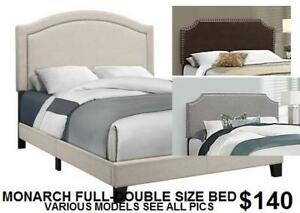 *NEW* *NO TAX* Monarch Specialties Full/Double Size Bed