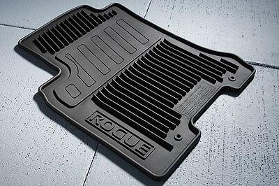 Genuine Nissan 2008-2013 Rogue All Season Weather Rubber Floor Mats NEW OEM