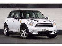 MINI 4X4 COUNTRYMAN COOPER D ALL4 FSH WITH LOW MILES, LIGHT WHITE AND BLACK ROOF, MIRRORS & STRIPES