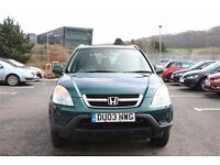 2003 03 HONDA CRV 2.0 PETROL, EXCELLENT CAR VERY WELL MAINTAINED, LONG MOT, MUST GO TODAY
