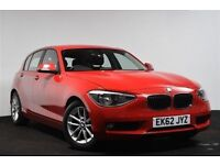 BMW 1 SERIES 1.6 116D EFFICIENTDYNAMICS 5d 114 BHP (red) 2012