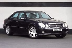 2003 03 MERCEDES E320 CDI AVANTGARDE , PANORAMIC GLASS ROOF, FULLY LOADED, DRIVES LIKE NEW