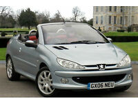 2006 PEUGEOT 206 1.6 CABRIOLET CONVERTIBLE 2DR COUPE WARRANTIED LOW MILEAGE