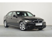 BMW 3 SERIES 2.0 318D M SPORT 4d 141 BHP (black) 2009