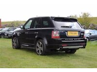 2011 61 LANDROVER RANGE ROVER SPORT AUTOBIOGRAPHY, LIMITED EDITION, RED/BLACK TWO TONE LEATHER