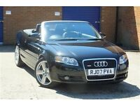 AUDI A4 S-LINE 2.0T CABRIOLET ** 99K ** FULL HISTORY ** 100% HPI CLEAR ** NATIONWIDE WARRANTY **
