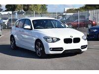 BMW 1 SERIES 1.6 114I SPORT 5d 101 BHP (white) 2013