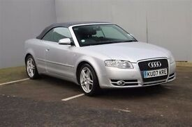 2007 Audi A4 2.0 TDi Manual Diesel, Convertible, HPI Cleared Full Black Leathers Seats, Only £3795!!