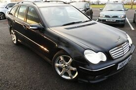 MERCEDES-BENZ C CLASS DIESEL ESTATE C220 CDI SPORT AUTOMATIC, FHS, HPi, 2 Owners, Full Leather