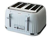 Breville 4 slice toaster - brand new unopened in box (white)