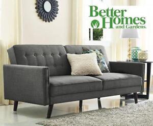 NEW BETTER HOMES LINEN FUTON GREY - 126643243