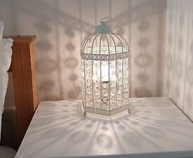 Two Vintage Birdcage Table Lamps
