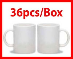36pc 11oz White Sublimation Ink Mugs Cup Mug Press Heat Transfer