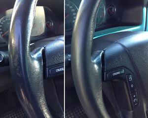 Kit rinnova colore volante auto pelle porsche nero ritocco for Fenetre volante